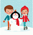 Winter fun vector image