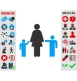 Mother And Children Icon vector image