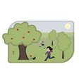 cartoon children playing in park vector image