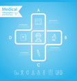 medical health and healthcare icons and vector image