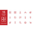 15 challenge icons vector image vector image
