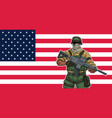 american soldier background vector image vector image