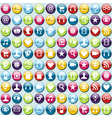 app icons pattern background vector image