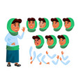 arab muslim teen girl teenager positive vector image