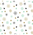 background with hand drawn snowflakes and vector image vector image
