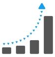 Bar Chart Positive Trend Flat Symbol vector image