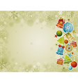 beige christmas background with christmas ball vector image vector image