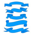 blue ribbon banners outline doodles vector image vector image