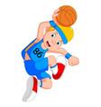 boy basketball player vector image vector image