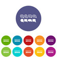bubble speech sale icon simple style vector image