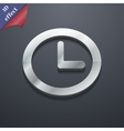 Clock icon symbol 3D style Trendy modern design vector image
