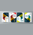 collection of modern design poster flyer brochure vector image
