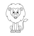 colorless cartoon lion vector image