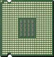 cpu chip vector image