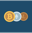 cryptocurrency icons set for internet money vector image
