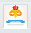 cute cartoon chicken mask colorful element for vector image