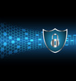 cyber security master key lock shield vector image vector image