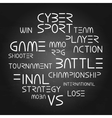 Cyber sport phrases vector image vector image