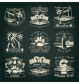 Dark Muay Thai Emblems vector image