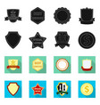 design of emblem and badge sign collection vector image vector image