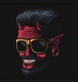 devil man eyeglasses vector image vector image