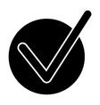 done tick solid icon correct vector image