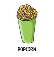 drawing popcorn vector image