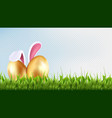 easter background spring season vector image vector image
