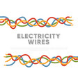 electric industrial cables multicolored cables vector image