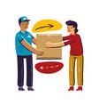 express delivery service parcel transportation vector image