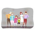 family coronavirus 2019ncov healthcare vector image