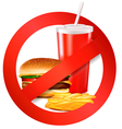 Fast food danger label vector image