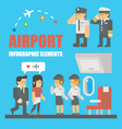 flat design airport infographic elements vector image