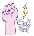 girl power cartoons vector image vector image