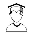 graduate man avatar character vector image vector image