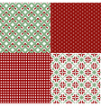 green and red patterns vector image vector image