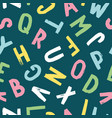 hand-drawn seamless pattern with alphabet vector image