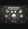 hand drawn tasty breakfast vector image vector image