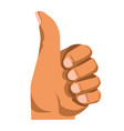 hand gesturing thumb up vector image vector image
