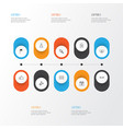 happy icons set collection of placard decorated vector image vector image