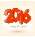 Happy New Year and card with red balloons vector image vector image