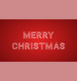 inscription of merry christmas with neon lamps vector image
