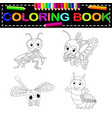 insect coloring book vector image vector image