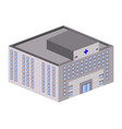 isolated hospital building vector image vector image