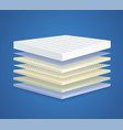layered orthopedic mattress with 7 sections