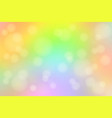 light rainbow abstract with bokeh lights blurred vector image vector image