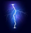 lightning flash bolt thunderbolt isolated on dark vector image vector image