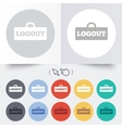 Logout sign icon Log out symbol Lock vector image vector image