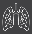 lungs line icon medicine and healthcare vector image vector image