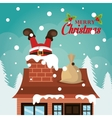 Merry christmas and happy new year card design vector image vector image